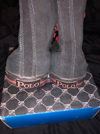 Polo boots black/red  1017 mi