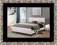 White platform bed with mattress and box Forestville