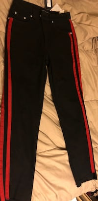 Black jeans with red lines on side Yonkers, 10703