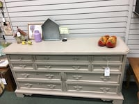 10 Drawer Empire Gray Dresser Heath, 43056