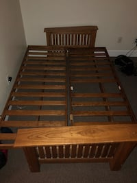 brown wooden slatted bed frame Albuquerque, 87106