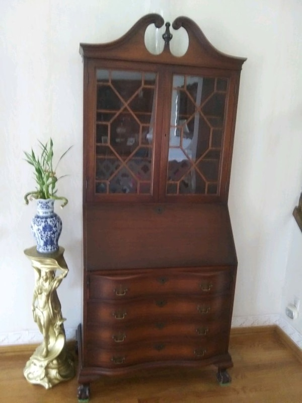 Excellent Antique Secretary Desk Chest And Bookcase With She Download Free Architecture Designs Embacsunscenecom