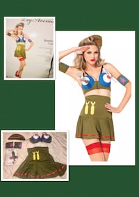 "LEG AVENUE * brand ""SEXY BOMBER GIRL!"" Vintage war time pin up girl costume women's size M/L - NEW!  Plano, 75093"