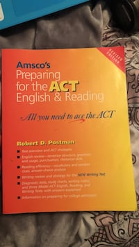 Amsco's Preparing For The Act English & Reading book Troy, 62294