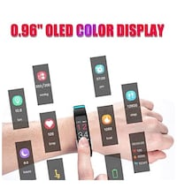 Brand New fitness tracker watch colored screen red color