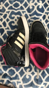 Pair of black-and-red adidas sneakers Champaign, 61820