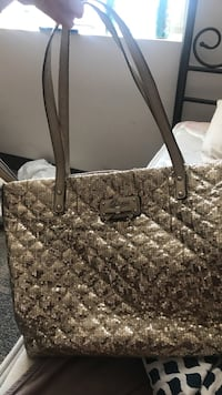 Women's gray michael kors tote bag