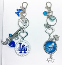 Dodgers baseball purse clip ons  null