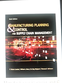 Manufacturing Planning and Control for Supply Chain Management PDF  Toronto, M3M 3C4