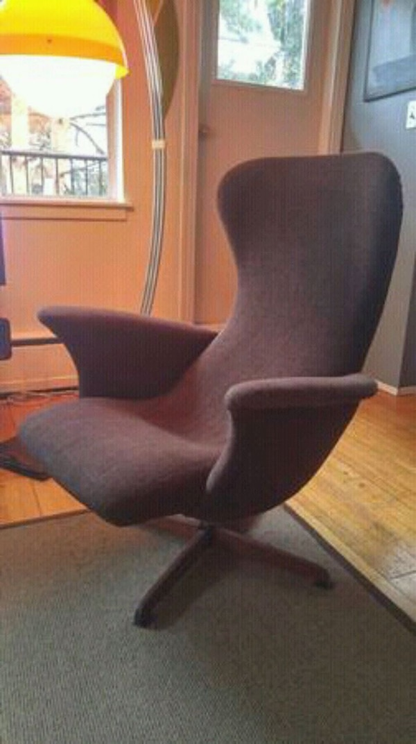 Used Mint Rare Helmut Krutz Mid Century Chair Ottoman For Sale In