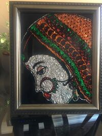 Indian bride, hand painted on glass. You can hang or put it on table Brampton, L7A 3K3