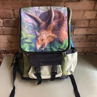 Kidaroo Triceratops Dinosaur Jungle School Backpack for kids (Tribeca Manhattan) New York, 10007