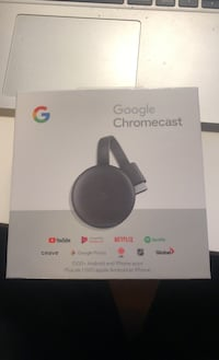 Google 3rd generation google chrome cast brand new.