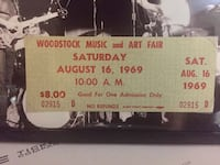 AUTHENTIC WOODSTOCK 1969 TICKET FRAMED - NOT A REPRODUCTION