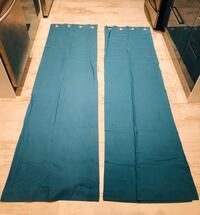 Long Teal Window Curtains