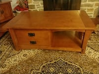 brown wooden 2-drawer side table Ellicott City, 21043