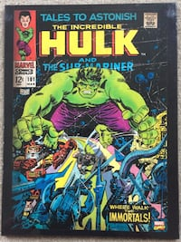 Incredible Hulk #101 Comic Cover Wall Art (wood) Greenfield, 46140
