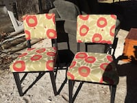 2 green and red chairs. Rogers, 72756