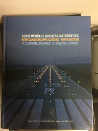 Contemporary Business Mathematics book Vaughan, L4J 6S7