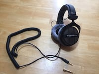 black and gray corded headphones Mississauga, L5E