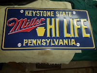 Miller Hi-life Sign Collectible  Frackville, 17931