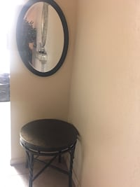 Chocolate brown table and mirror  Tulare, 93274