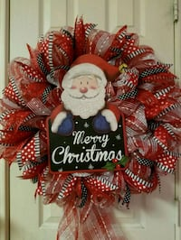 red and white floral wreath Burleson, 76028