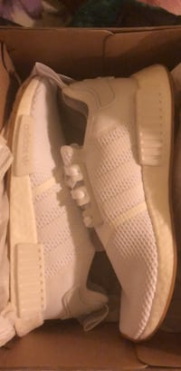 Pair of white adidas NMD Original sneakers in box brand new  Los Angeles, 90023