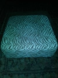 Brown and beige ottoman