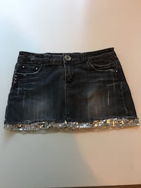 Grey Jean Skirt w/ Sparkle Trim S West Linn, 97068
