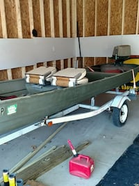 14 foot johnboat. 10 horse outboard and trailer