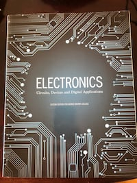 Textbook. Electronics: circuits, devices and digital applications Toronto, M1K 1P6