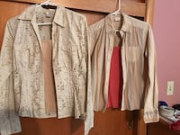 two white and brown button-up shirts Hudsonville