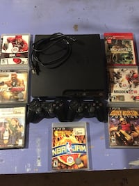Sony PS3 slim console with controller and game cases Milton, 03851