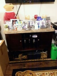 Cherry wood wine cabinet for sale.  Richmond, 23224
