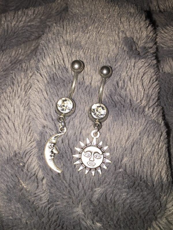 Belly Button Rings Moon And Sun