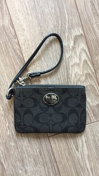 monogrammed grey and black Coach wristlet London, N6A 3G8
