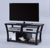Draper 4806 Black Wood TV Stand Houston