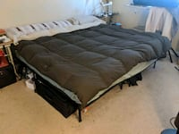 Cal king bed with frame Sunnyvale, 94087