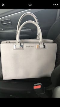 white Michael Kors leather tote bag Montgomery Village, 20886