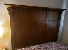 Bedroom set made out of worm wood heavy set