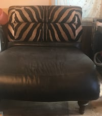 Double Chaise lounge  Leather with Zebra print