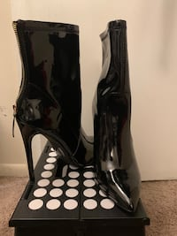 Faux Patent Leather Booties  Silver Spring, 20904