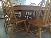 Rectangular brown wooden table with six chairs dining set Lavallette, 08735