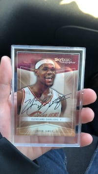 LeBron James basketball trading card Ludington, 49431