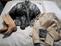 Motor cycle gear..jacket,,boots.