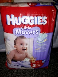 Huggies little movers. Size: 3 Toronto, M6M 1V5
