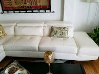 white leather sectional couch with ottoman Vienna, 22182