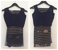 Navy blue indian saree. two piece. blouse stitched size 36 can be adjusted Deer Park, 11729