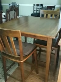rectangular brown wooden table with four chairs dining set Rome, 30165